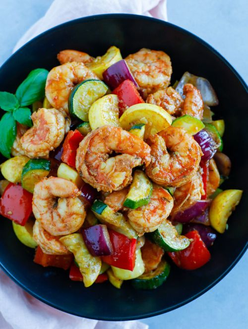 Shrimp and Vegetable Skillet