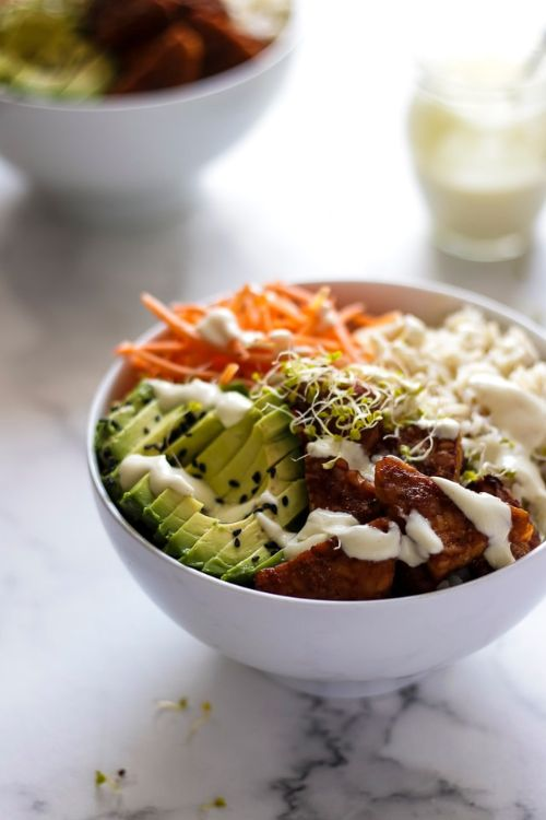 Vegan Rice Bowl with Smoky Tempeh