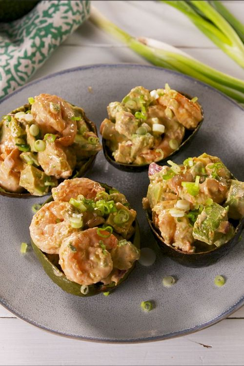 Spicy Shrimp Stuffed Avocados