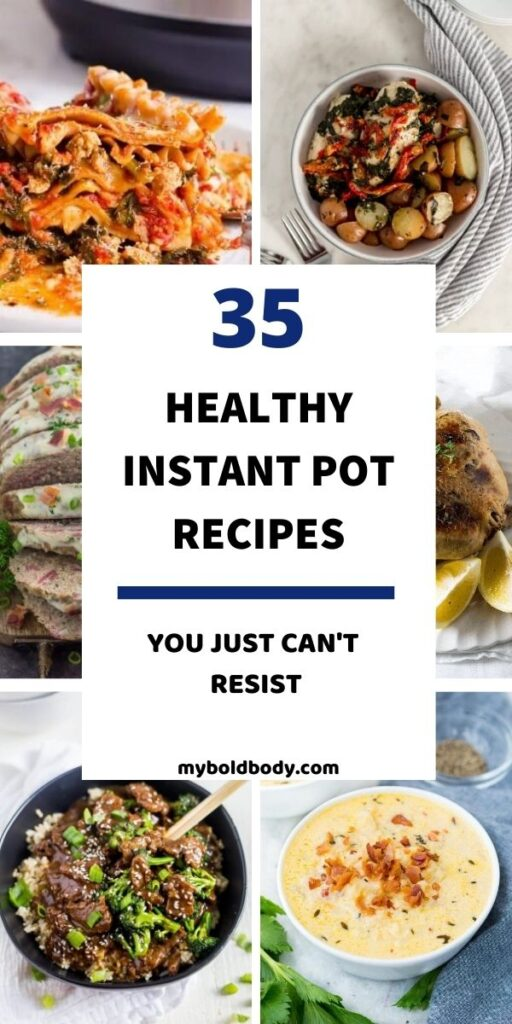 Got an instant pot? Here are 35 quick, easy and delicious instant pot recipes for you to enjoy. These yummy and healthy instant pot recipes make the perfect weeknight dinner or comfort food idea to enjoy with the family. And most are ready in well under 30 minutes too. #instantpot #instantpotrecipes #pressurecooker #healthyrecipes #healthydinner #dinner