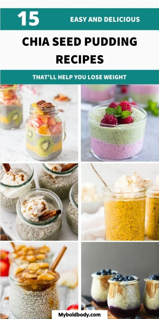 Enjoy these 15 incredibly delicious and healthy chia seed pudding recipes for weight loss. These easy and yummy chia seed pudding recipes make the perfect healthy breakfast or snack idea to enjoy and will help you lose weight. #chiapudding #chiaseedpudding #chiaseedrecipes #healthybreakfast #healthysnacks #healthyrecipes