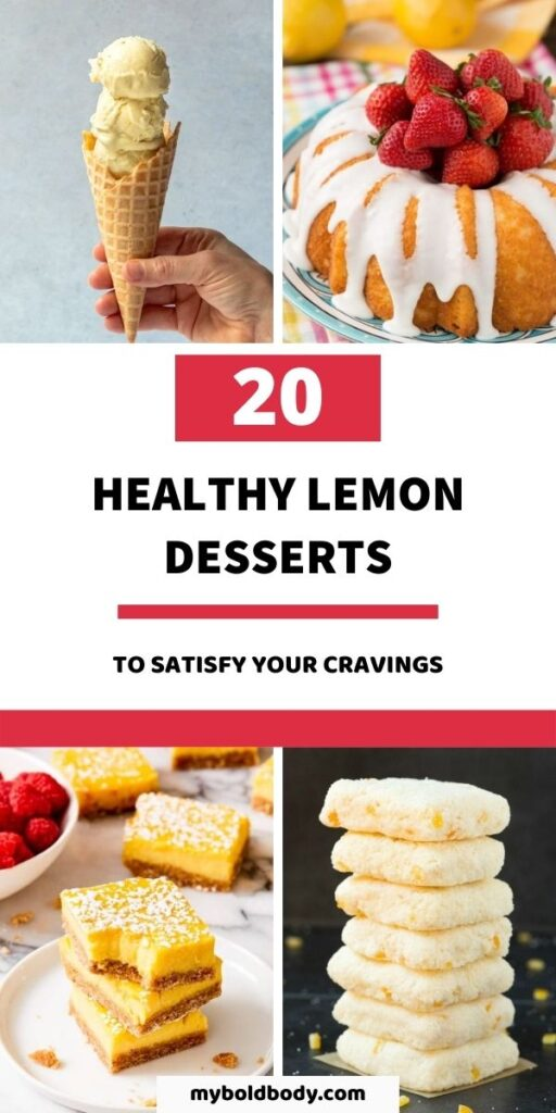 These healthy lemon dessert recipes are perfect for spring, summer or just any occasion. From healthy lemon bars to cheesecakes to tarts to cookies and more. Enjoy these 20 delicious and healthy lemon desserts to satisfy your sweet tooth. #lemondesserts #healthydessert #dessertrecipes #healthyrecipes #dessert