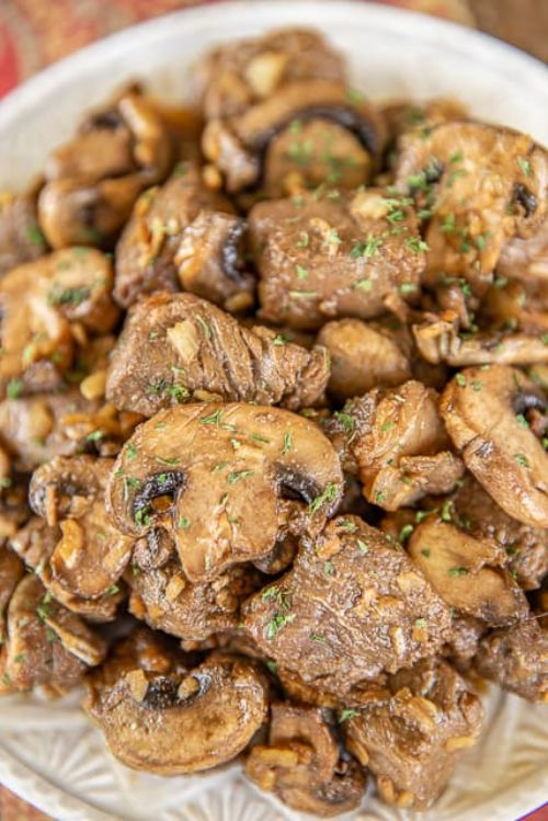 Easy Beef Tips & Mushrooms