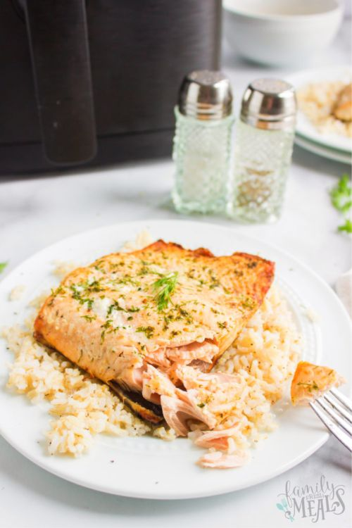 Salmon with Dill Butter Sauce