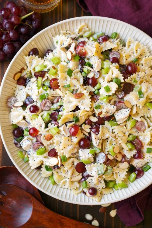 Poppy Seed Chicken and Grape Pasta Salad