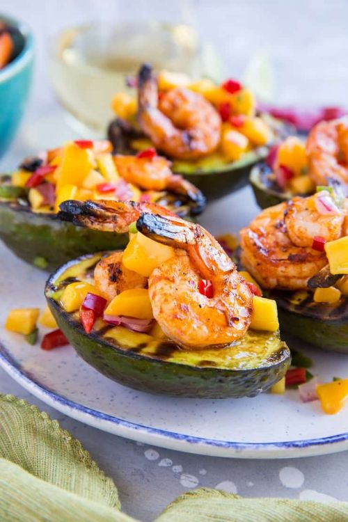 Stuffed Avocados With Shrimp And Mango Salsa